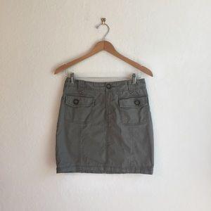 Banana Republic 4 Khaki green mini skirt cotton